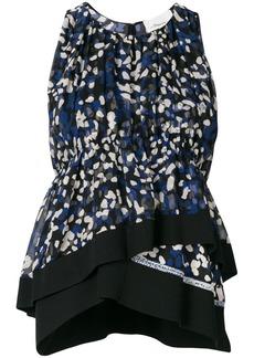 3.1 Phillip Lim Brushstroke print layered hem blouse