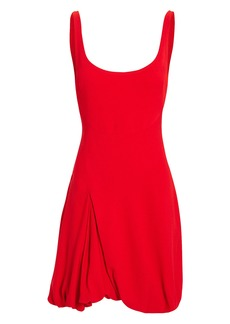 3.1 Phillip Lim Bubble-Hem Red Mini Dress