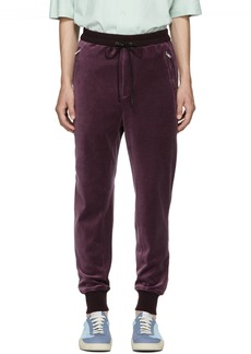 3.1 Phillip Lim Burgundy Cropped Sweatpants