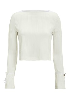 3.1 Phillip Lim Button Detail Contrast Top