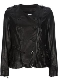 3.1 Phillip Lim button detail leather jacket