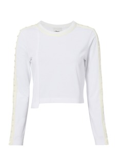 3.1 Phillip Lim Button-Embellished Cropped T-Shirt