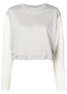 3.1 Phillip Lim cable knit sleeve sweatshirt