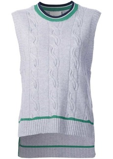 3.1 Phillip Lim cable knit sleeveless jumper