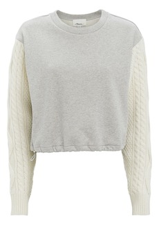 3.1 Phillip Lim Cable Sleeve Sweatshirt