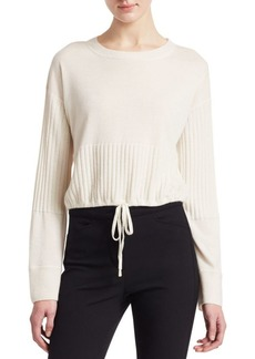 3.1 Phillip Lim Cashmere Cropped Drawstring Hem Sweater