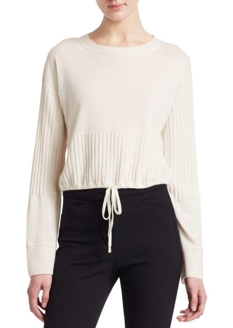 3.1 Phillip Lim Cashmere Cropped Drawstring Hem Sweater