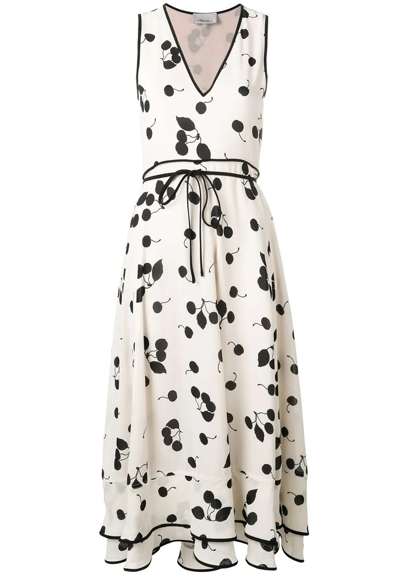 3.1 Phillip Lim Cerise Print Sleeveless Maxi Dress