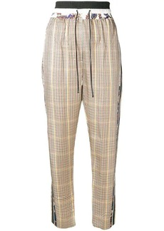 3.1 Phillip Lim side stripe check trousers
