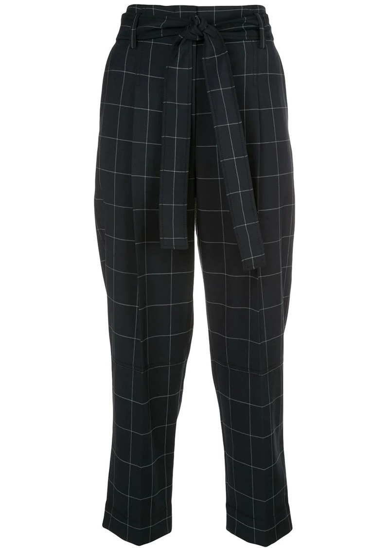 3.1 Phillip Lim check print cropped trousers