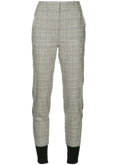 3.1 Phillip Lim check print tapered trousers