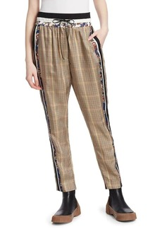 3.1 Phillip Lim Checked Floral Pants