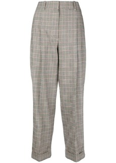 3.1 Phillip Lim checked high-waist trousers