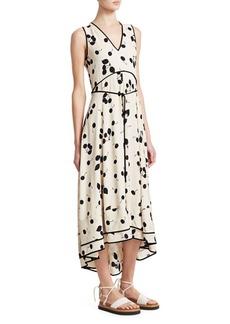 3.1 Phillip Lim Cherry Print Sleeveless A-Line Maxi Dress
