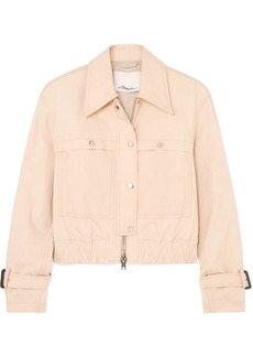 3.1 Phillip Lim Coated Stretch Cotton-blend Canvas Jacket