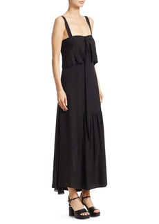 3.1 Phillip Lim Cold Shoulder Silk Tie Gown