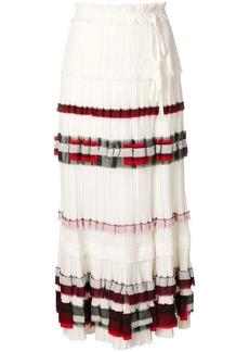 3.1 Phillip Lim contrast pleated midi skirt