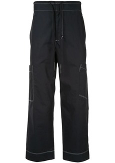 3.1 Phillip Lim contrast stitch cropped trousers
