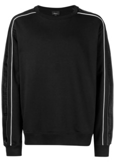 3.1 Phillip Lim contrast striped sleeve sweatshirt