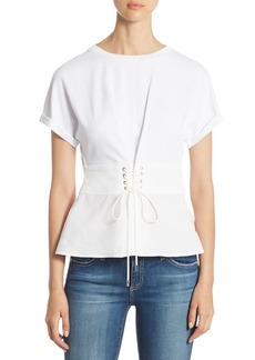 3.1 Phillip Lim Corset Cotton Jersey Top