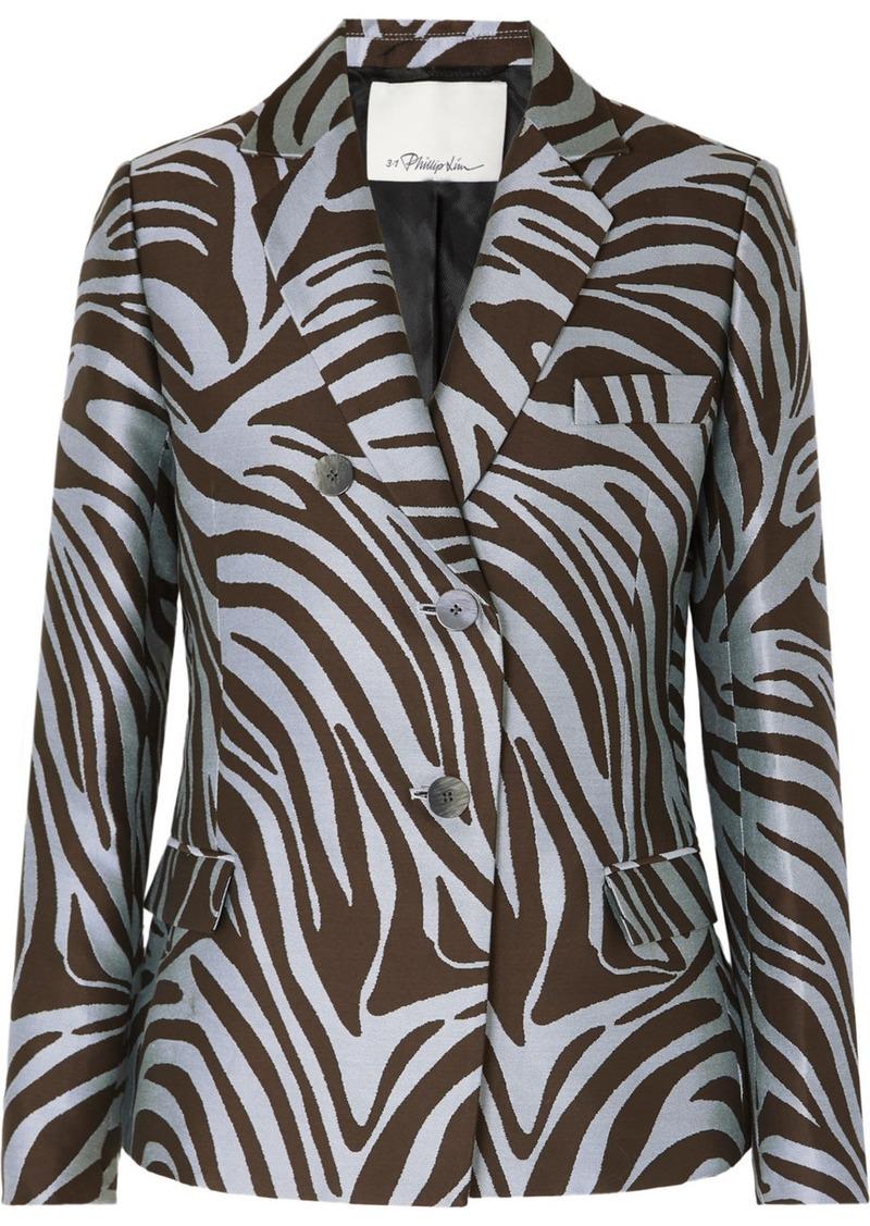 3.1 Phillip Lim Cotton-blend Zebra-jacquard Blazer