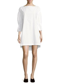 3.1 Phillip Lim Cotton Gathered Shift Dress