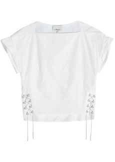 3.1 Phillip Lim Cotton Top with Lace-Up Sides