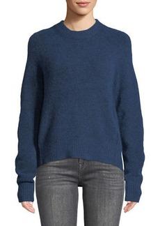 3.1 Phillip Lim Crewneck High-Low Pullover Sweater