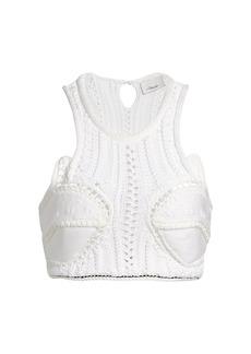 3.1 Phillip Lim Crochet Crop Top