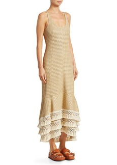 3.1 Phillip Lim Crochet-Knit Fringe Trim Dress