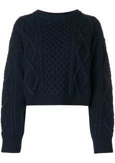 3.1 Phillip Lim cropped cable-knit jumper