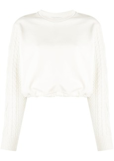 3.1 Phillip Lim cropped cable knit sweater