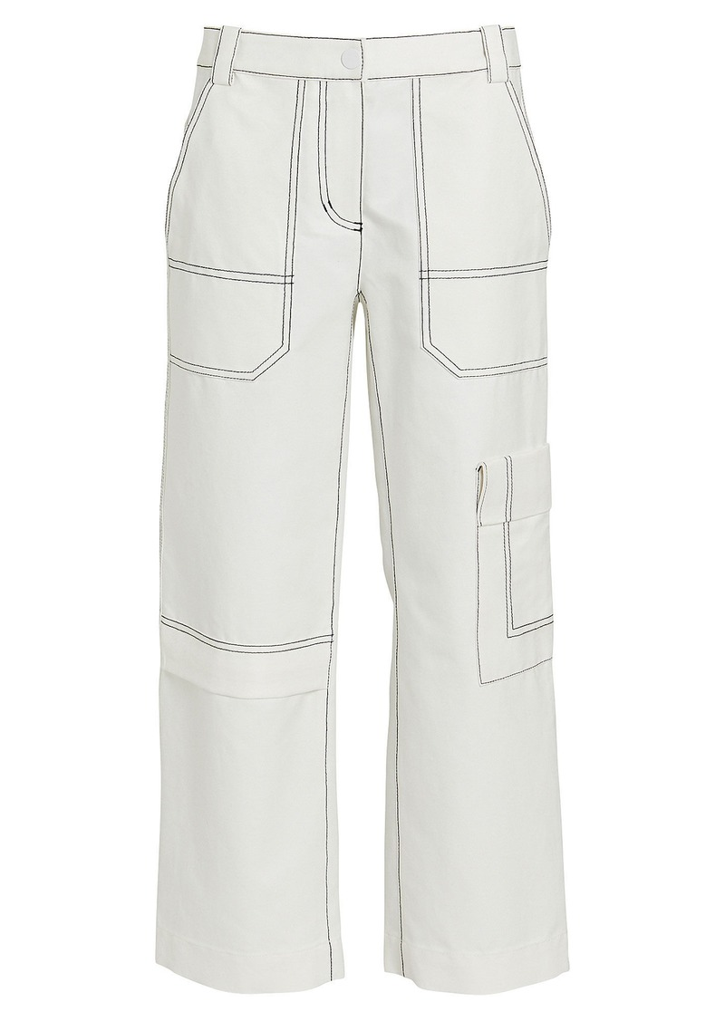 3.1 Phillip Lim Cropped Cotton-Blend Twill Cargo Pants