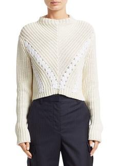 3.1 Phillip Lim Cropped Cotton Rib Pullover