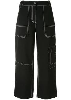 3.1 Phillip Lim cropped wool denim cargo pants