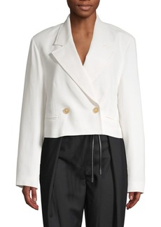 3.1 Phillip Lim Cropped Double Breasted Blazer