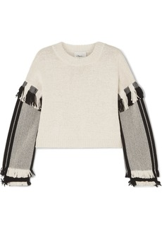 3.1 Phillip Lim Cropped Fringed Cotton-blend Sweater