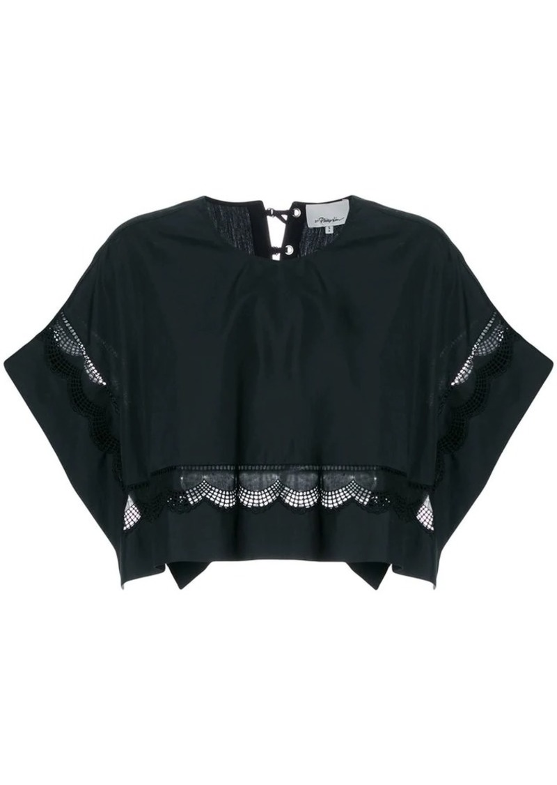 3.1 Phillip Lim cropped lace-hem top