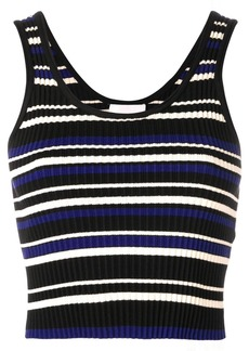 3.1 Phillip Lim Cropped Multi-Stripe Tank Top