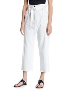 3.1 Phillip Lim Cropped Paperbag Straight-Leg Pants