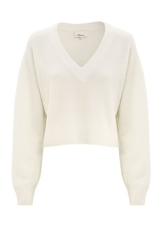 3.1 Phillip Lim Lofty V-Neck Ivory Sweater