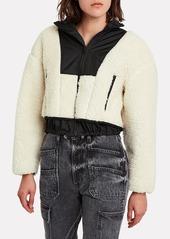 3.1 Phillip Lim Cropped Teddy Bomber Jacket