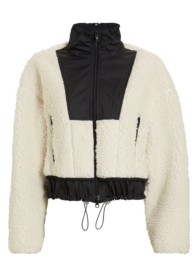 Cropped Teddy Bomber Jacket