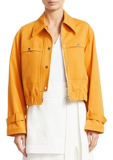 3.1 Phillip Lim Cropped Trench Bomber Jacket