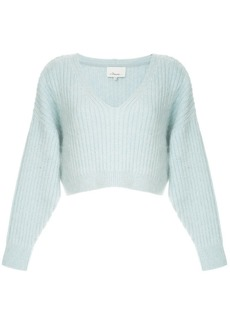 3.1 Phillip Lim cropped V-neck jumper