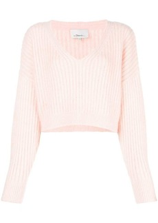3.1 Phillip Lim Cropped V-Neck Sweater