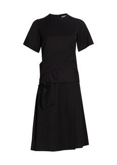 3.1 Phillip Lim Cross Strap Silk T-Shirt Dress