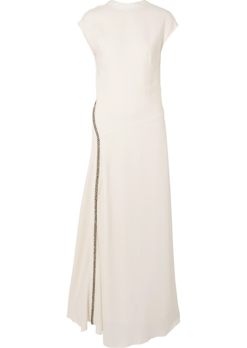 3.1 Phillip Lim Crystal-embellished Stretch-crepe Gown