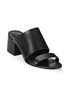 3.1 Phillip Lim Cube Leather Mule Sandals
