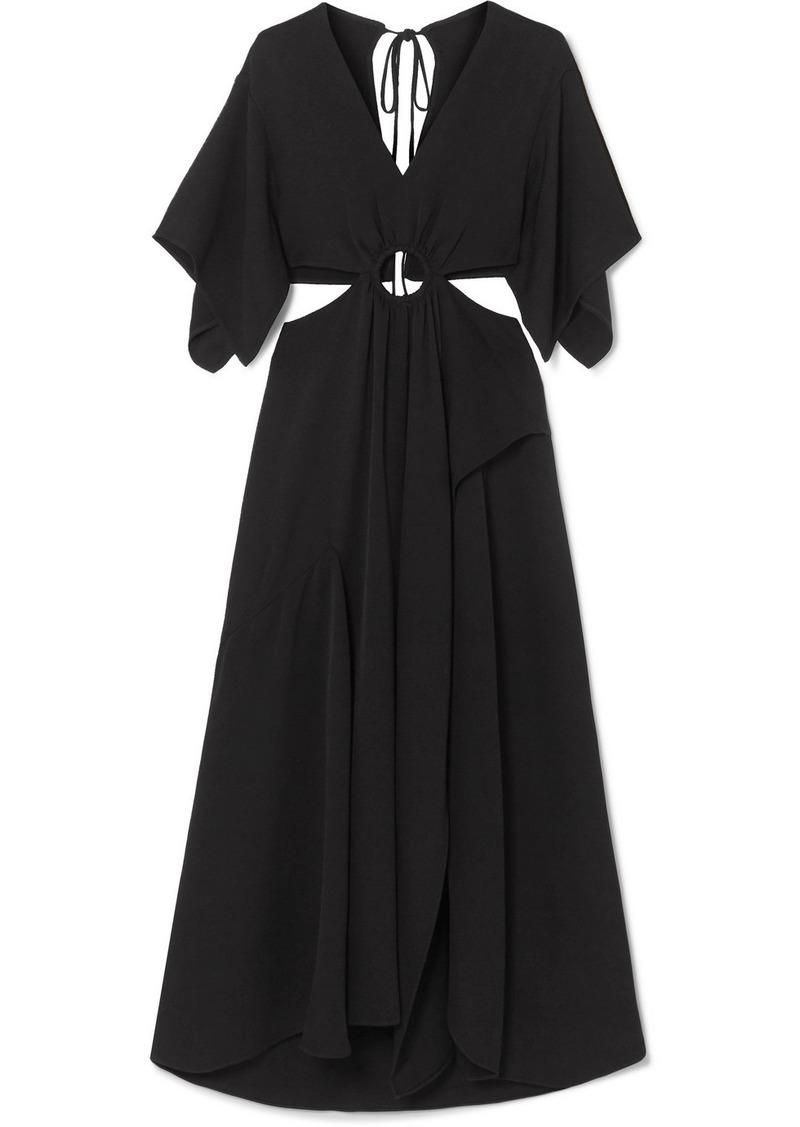 3.1 Phillip Lim Cutout Crepe Maxi Dress